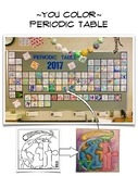 YOU COLOR – PERSONALIZED, ILLUSTRATED CLASSROOM PERIODIC TABLE (Elements 1-46)