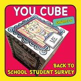 YOU CUBE – the back to school student survey activity in a cube.