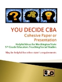 YOU DECIDE CBA Cohesive Paper - Helpful Ideas