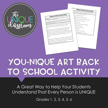 YOUnique Art Back to School Activity
