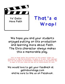 Ya Gotta Have Faith - Easy play with character building themes