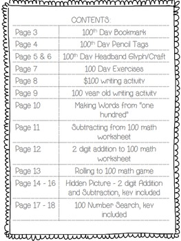 Yahoo!! It's the 100th Day! {Activities perfect for 2nd & 3rd graders}