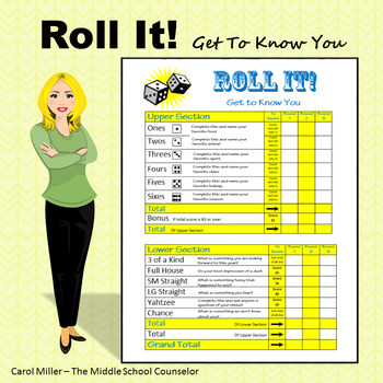 Roll It! Get To Know You Game Board