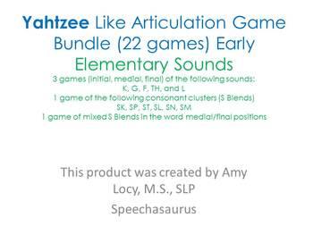 Yahtzee Like Articulation Game Bundle
