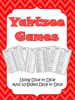 Yahtzee Math Games