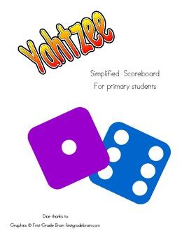 Yahtzee Scoreboard