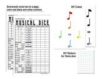 Yahtzee -inspired Musical Dice Game (Rhythm Medium)