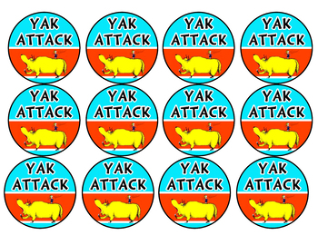 Yak Attack Classroom Management Cards