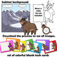 Yak Clip Art with Signs - Letter Y in Animal Alphabet Series