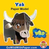 Yak Craft Activity | 3D Paper Model