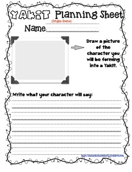 YakIt App Planning Sheets: Writing with VOICE