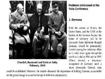 Yalta and Potsdam and response