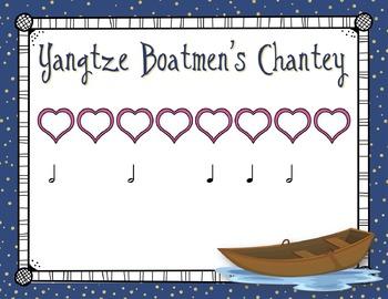 Yangtze Boatmen's Chantey: Activities for Half Note, Meter, Low La, and Recorder