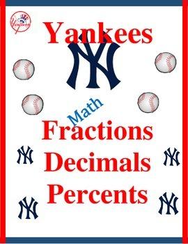 Yankees Baseball-Fractions, Decimals, & Percents