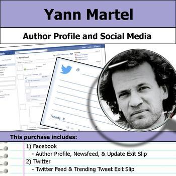 Yann Martel - Author Study - Profile and Social Media