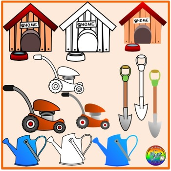 Yard Clipart (Front/Back Yard/Garden) (My Home Series 3)