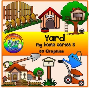 Yard Clipart (Front/Back Yard/Garden) (My Home Series 3)