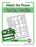 Yard / Garding Matching - Print, Answer & Color Worksheets