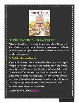 """Yard Sale"" - GA Picture Book Award Nominee 2016-2017"