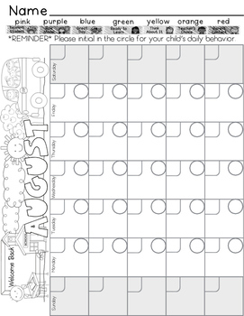 Behavior Yardstick Clip Chart and Tracking Sheets