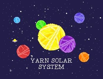 Yarn Ball Fantasy Solar System Poster Print Science Astronomy PDF Printable