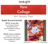 """Yarn Collages (Can be used with """"Extra Yarn"""" by Mac Barnett, Mixed-Media, Art)"""