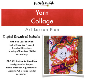 "Yarn Collages (Can be used with ""Extra Yarn"" by Mac Barnett, Mixed-Media, Art)"