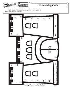 Yarn Sewing: Castle