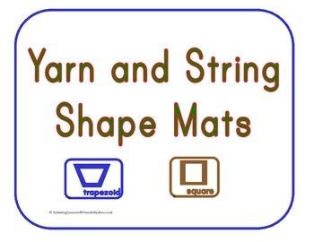 Yarn and String Shape Mats
