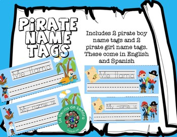 Yarr! Pirate name tags