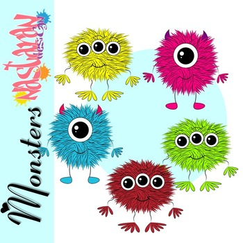 Furry Monsters Clip Art
