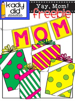 Yay, Mom! Clipart Freebie {by Kady Did Doodles}