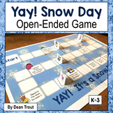 Winter Speech Therapy Open Ended Game Yay Snow Day