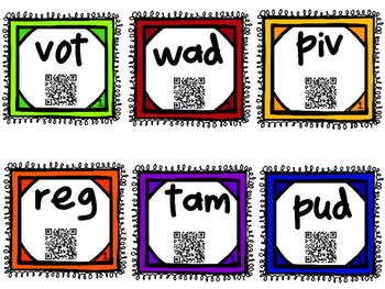 Nonsense Word Sort with QR Codes for Self-Correcting