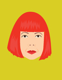 Yayoi Kusama Artist Illustration