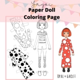 Yayoi Kusama Color and Cut Paper Doll Activity and Intro Sheet