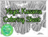 Yayoi Kusama Coloring Sheet