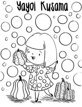 Yayoi Kusama Coloring page