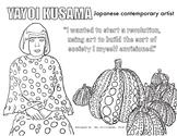 Yayoi Kusama (Japanese artist) Coloring Page - Women's His