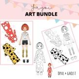 Yayoi Kusama Paper Doll, Color, Cut and Inspire Art Bundle