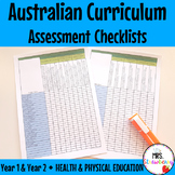Year 1 & 2 Australian Curriculum Assessment Checklists - Health & Physical Ed