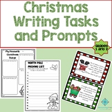 Year 1 & 2 Christmas Writing Activities and Prompts - NO PREP