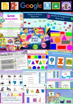 Year 1 2D Space Smart Notebook and Unit of Work Bundle 2