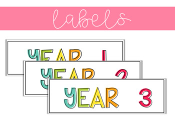 Year 1-6 Labels