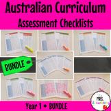 Year 1 Australian Curriculum Assessment Checklists BUNDLE