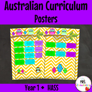Year 1 Australian Curriculum Posters – Humanities and Soci