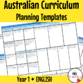 Year 1 Australian Curriculum Planning Templates: English - EDITABLE