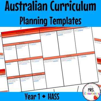 Year 1 Australian Curriculum Planning Templates - HASS