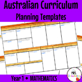 Year 1 Australian Curriculum Planning Templates: Mathematics - EDITABLE