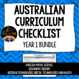 Year 1 BUNDLE - Australian Curriculum Checklists